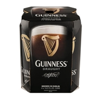 Guinness Draught Beer Cans - 4 CT Food Product Image