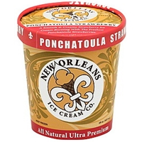 New Orleans Ice Cream Ice Cream Ponchatoula Strawberry Food Product Image