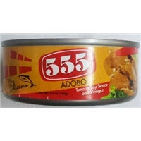 555 555, Adobo, Tuna In Soy Sauce And Vinegar Food Product Image