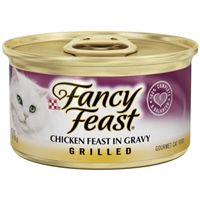 Purina Fancy Feast Chicken Feast in Gravy Grilled Gourmet Cat Food Food Product Image