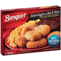 Banquet Chicken Nuggets with Mac & Cheese Food Product Image