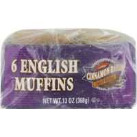 Kroger Cinnamon Raising English Muffins Food Product Image