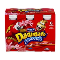 Dannon Danimals Smoothie Strawberry Explosion - 6 CT Food Product Image