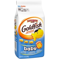 Pepperidge Farm Goldfish Baby Cheddar Baked Snack Crackers Food Product Image