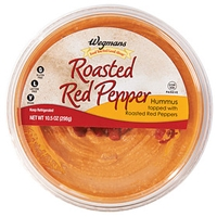 Wegmans Mediterranean Food Roasted Red Pepper Hummus Topped With Roasted Red Peppers Food Product Image