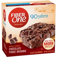 Fiber One 90 Calorie Chocolate Fudge Brownies - 6 CT Food Product Image