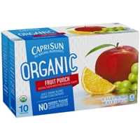 Capri Sun Organic Juice Drink Pouches Fruit Punch - 10 CT Food Product Image