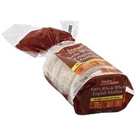 Signature English Muffins 100% Whole Wheat Food Product Image