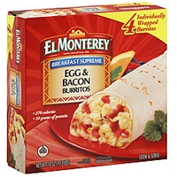 El Monterey Signature Egg, Applewood Smoked Bacon & Cheese Burritos - 4 CT Food Product Image