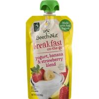 Beech-Nut Breakfast On-The-Go Yogurt, Banana & Strawberry Blend Food Product Image
