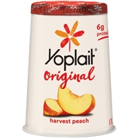 Yoplait Original Low Fat Yogurt Harvest Peach Food Product Image
