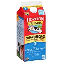 Horizon Organic 2% Reduced Fat Dha Omega-3 Milk Food Product Image
