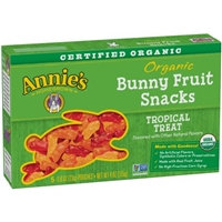Annie's Homegrown Organic Bunny Fruit Snacks Tropical Treat - 5 CT Food Product Image