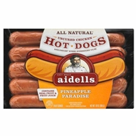 Aidells Pineapple Paradise Chicken Hot Dogs Product Image