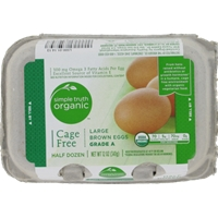 Simple Truth Organic Cage Free Large Brown Eggs Grade A Food Product Image
