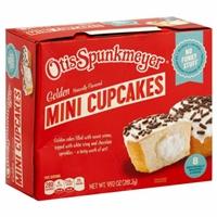 Otis Spunkmeyer Mini Cream Filled Golden Cupcakes Food Product Image