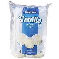 Wegmans Ice Cream & Popsicles Ice Cream Cups, Vanilla Food Product Image