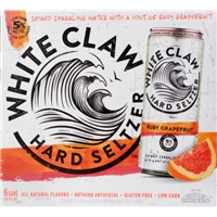 White Claw Hard Seltzer Ruby Grapefruit Food Product Image