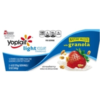 Yoplait Light Strawberry with Granola Fat Free Yogurt - 2 PK Food Product Image