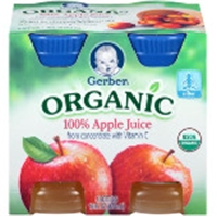 Gerber Organic 100% Apple Juice Food Product Image