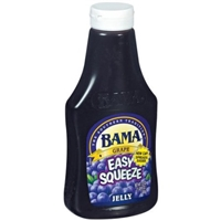 Bama Easy Squeeze Grape Jelly Food Product Image