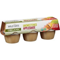 Wild Oats Marketplace Organic Unsweetened Applesauce, 6 count, 4 oz Food Product Image