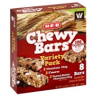 H-E-B Chewy Variety Pack Granola Bars Food Product Image