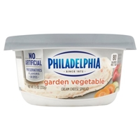 Philadelphia Cream Cheese Garden Vegetable Food Product Image