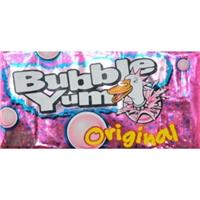 BUBBLE YUM Bubble Gum (Original) Food Product Image