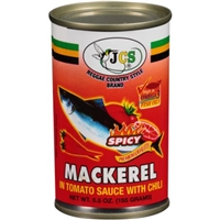 Jcs Mackerel In Tomato Sauce With Chili, Spicy Food Product Image