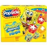 Popsicle Nickelodeon Sponge Bob Squarepants Pop Ups Strawberry & Lemonade, Orange & Lemonade - 9 CT Food Product Image