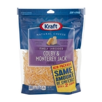 Kraft Natural Cheese Finely Shredded Colby & Monterey Jack Food Product Image
