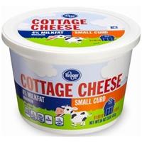 Kroger 4% Milkfat Small Curd Cottage Cheese Food Product Image