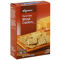 Wegmans Crackers Wheat, Thin & Crispy, Reduced Fat Allergy