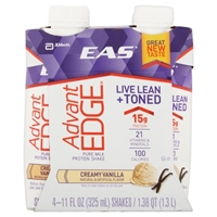 EAS Advant Edge Protein Shake Creamy Vanilla - 4 CT Food Product Image