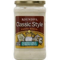 Roundy's Classic Style Pasta Sauce - Roasted Garlic Alfredo Sauce Food Product Image