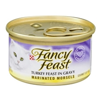Fancy Feast Turkey Feast in Gravy Marinated Morsels Gourmet Cat Food Food Product Image