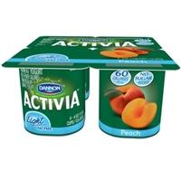 Dannon Activia Light Peach Nonfat Yogurt - 4 Ct