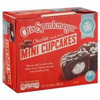 Otis Spunkmeyer Mini Cream Filled Chocolate Cupcakes Food Product Image