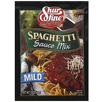 Shur Fine Spaghetti Sauce Mix Mild Food Product Image