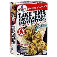 Bakersfield Biscuits Brand Breakfast Burritos Take 'Ems, Sausage, Egg & Cheese Food Product Image