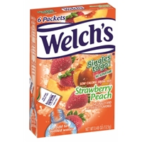 Welch Strawberry Peach Drink Sticks 6ct Food Product Image