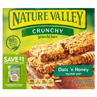 Nature Valley 100% Natural Oats 'n Honey Crunchy Granola Bars Food Product Image