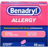 Benadryl Allergy Ultratabs - 48 CT Food Product Image