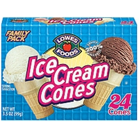 Lowes Foods Ice Cream Cones 24 Ct Food Product Image
