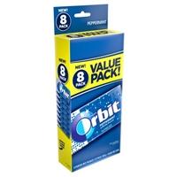 Orbit Sugar Free Gum Peppermint Value Pack - 8 CT Food Product Image