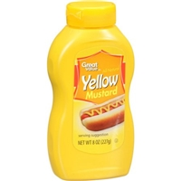 Great Value Mustard All Natural Yellow Food Product Image