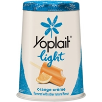 Yoplait Light Fat Free Yogurt Orange Creme Food Product Image