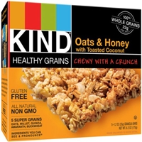 Kind Healthy Grains Granola Bars Oats & Honey with Toasted Coconut - 5 CT Food Product Image