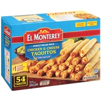 El Monterey Family Value Pack Chicken & Cheese Taquitos Food Product Image